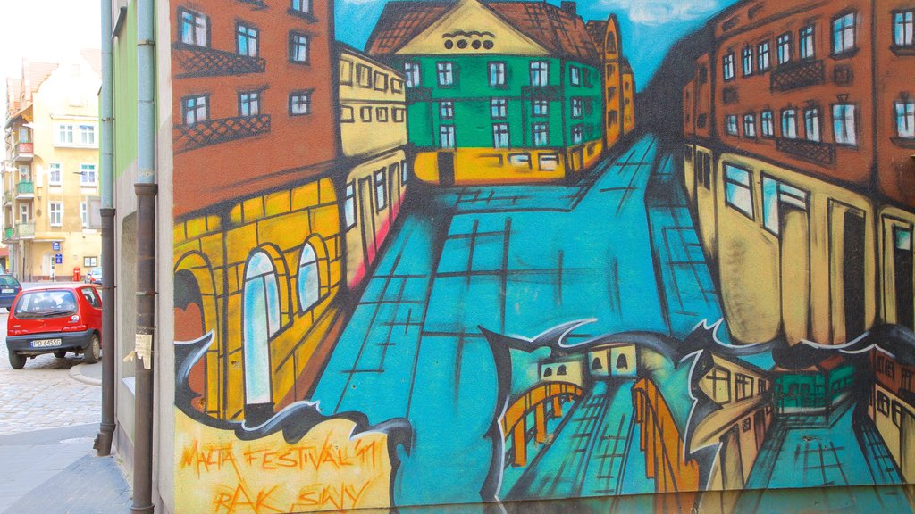 Poznan showing outdoor art