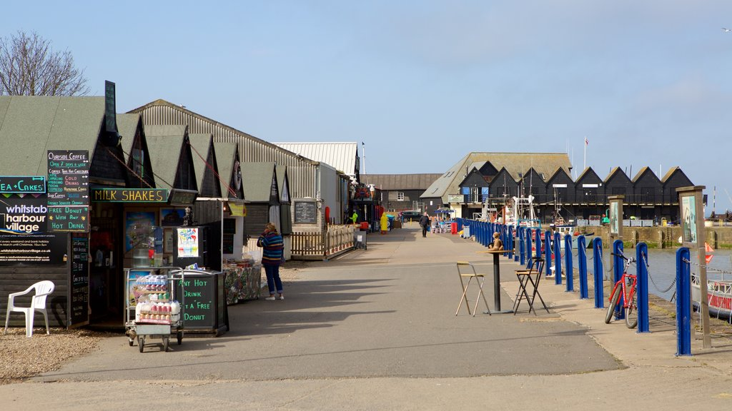 Whitstable Harbour showing markets