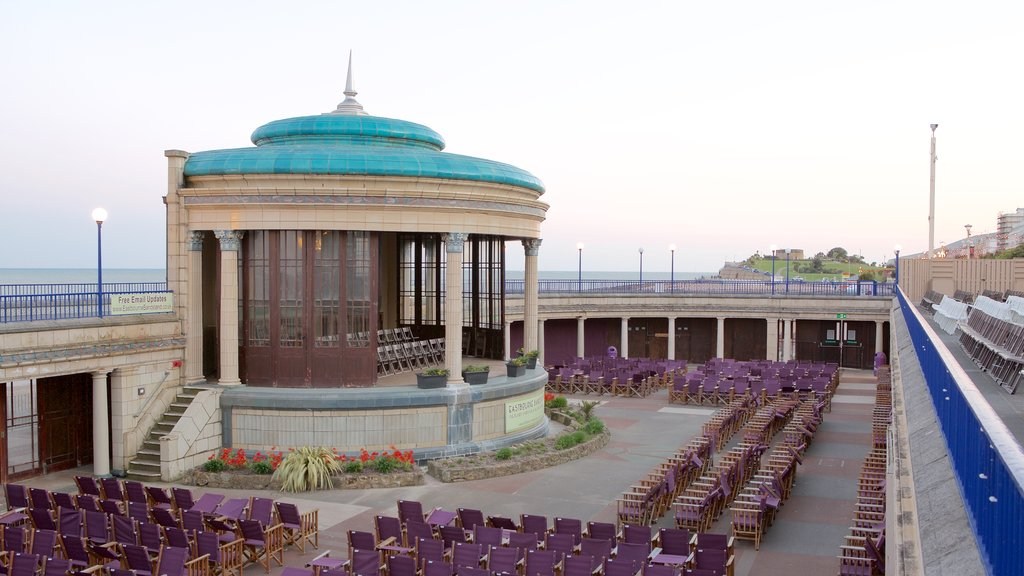 Eastbourne Bandstand showing general coastal views