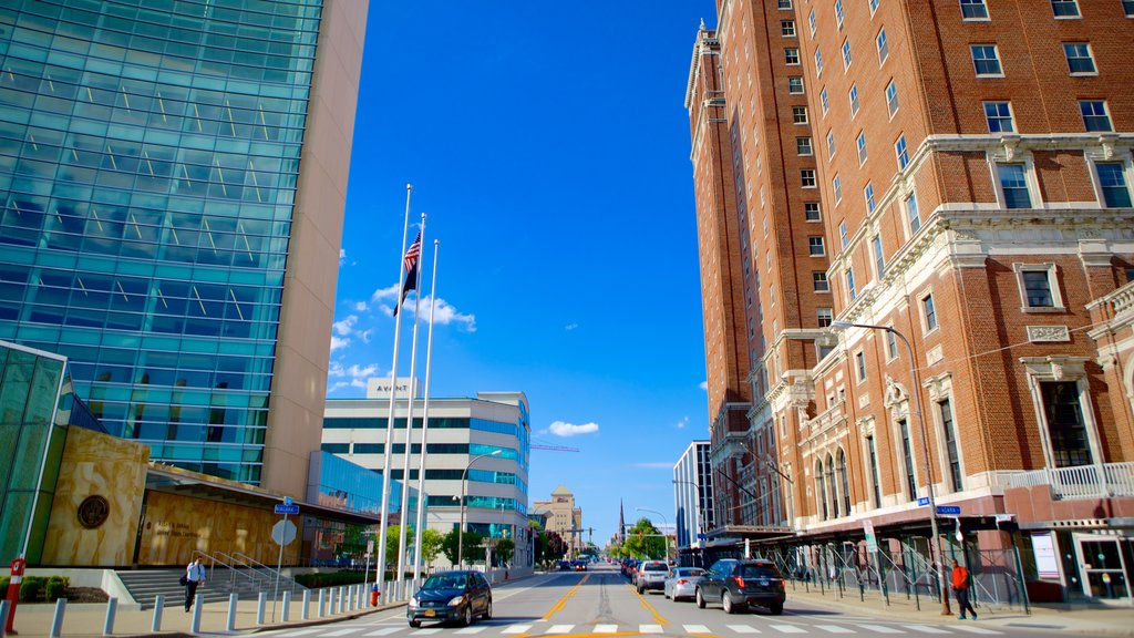 Buffalo which includes a city and central business district