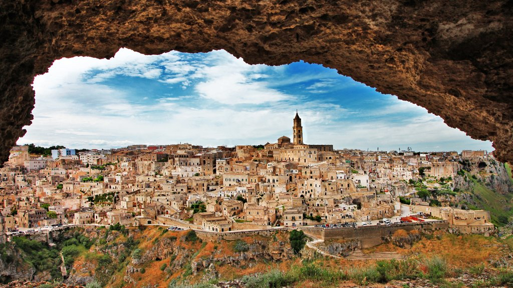 Matera which includes a city