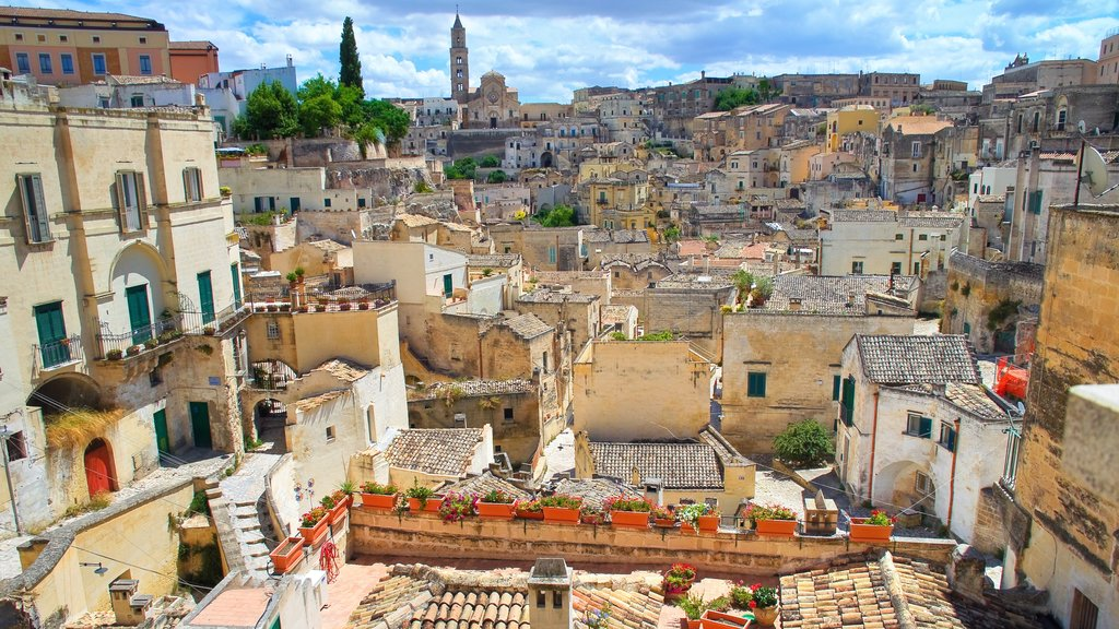 Matera featuring heritage elements and a city