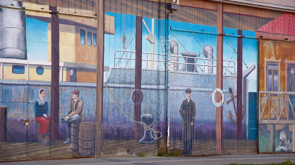 Punta Arenas featuring outdoor art