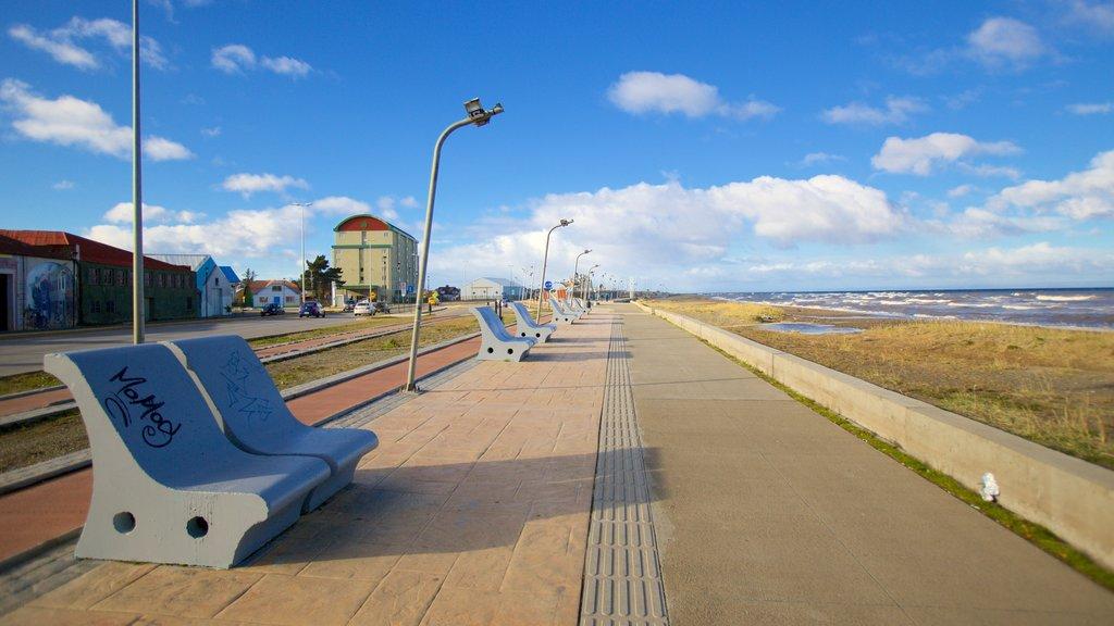 Punta Arenas showing general coastal views