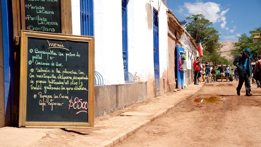 San Pedro de Atacama featuring signage
