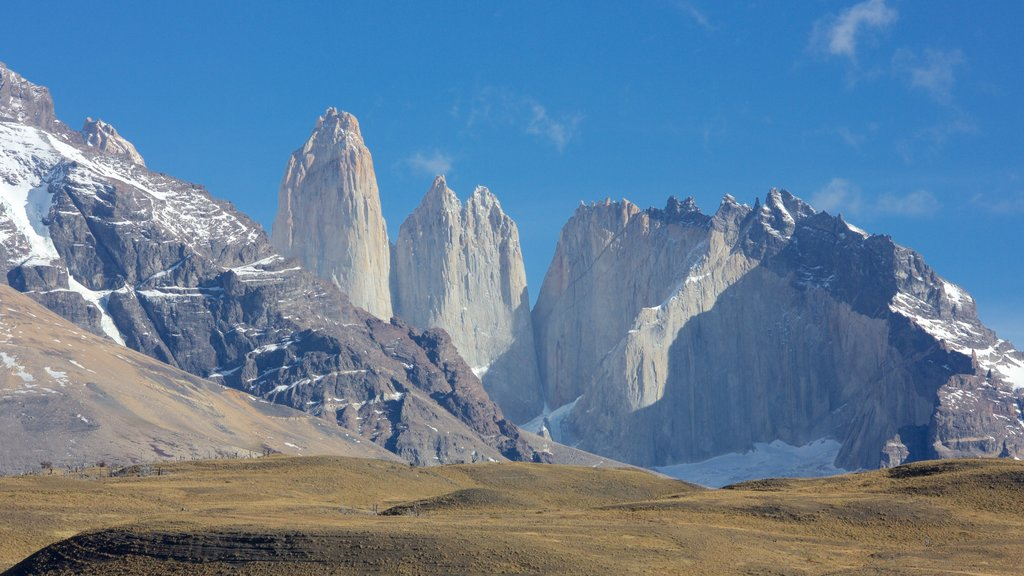 Torres del Paine National Park which includes tranquil scenes and mountains