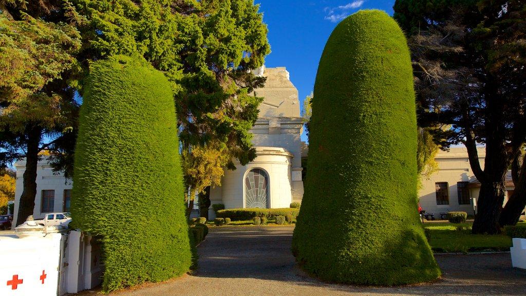 Punta Arenas Cemetery which includes a garden