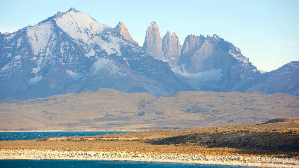Torres Del Paine featuring a lake or waterhole, landscape views and tranquil scenes