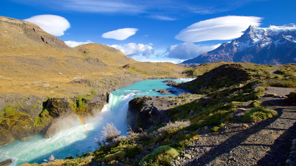 Torres Del Paine showing a cascade, a river or creek and tranquil scenes