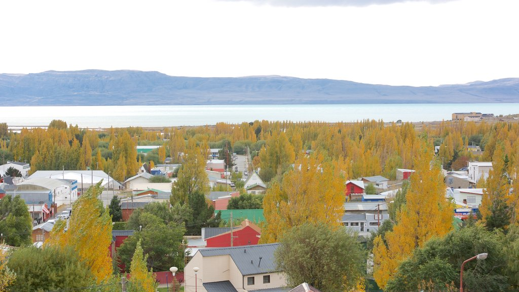 El Calafate which includes a small town or village, landscape views and a lake or waterhole