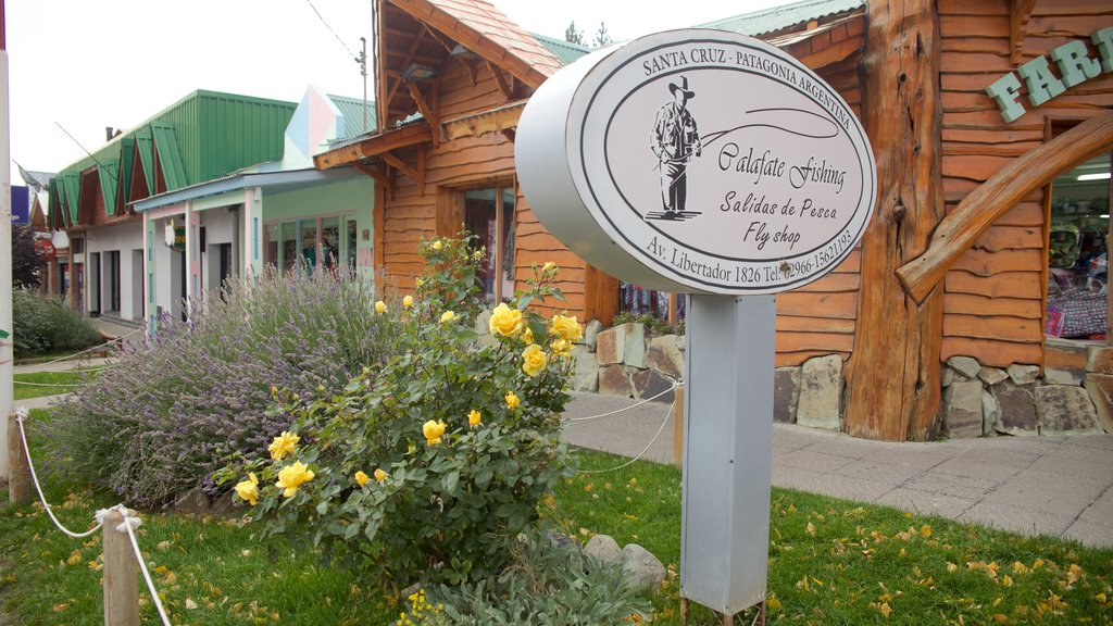 El Calafate which includes signage and a small town or village