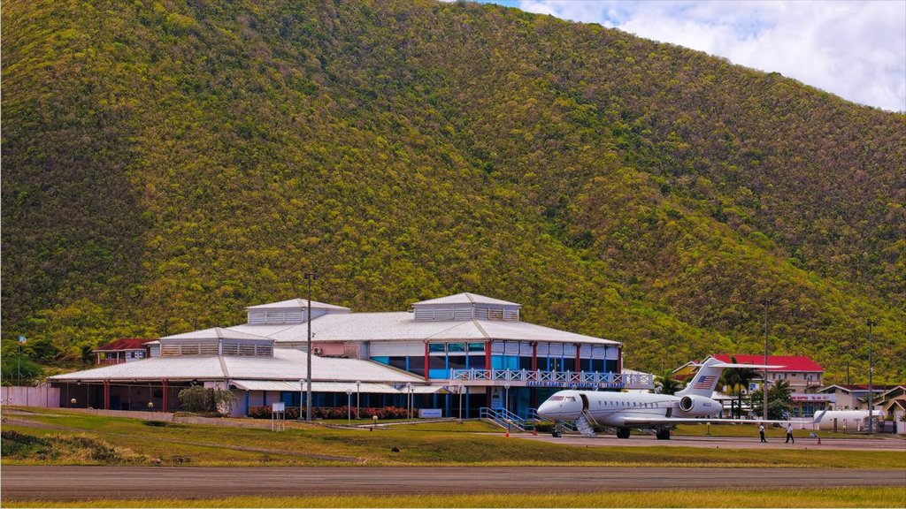 Nevis featuring an airport and aircraft