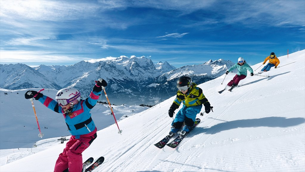 Hasliberg which includes snow skiing, snow and mountains