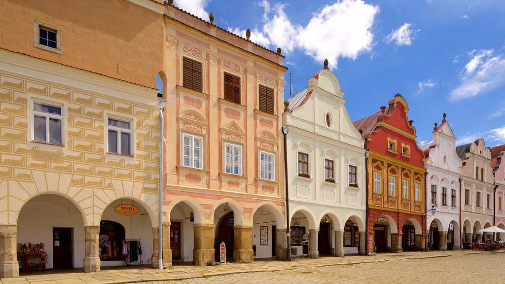 Telc featuring a city