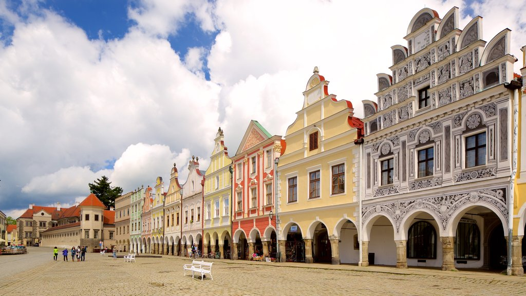 Telc which includes a city