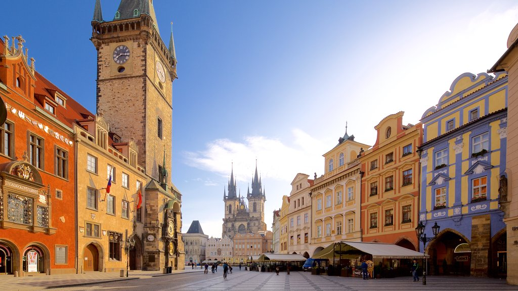 Prague City Center which includes street scenes, a city and a square or plaza