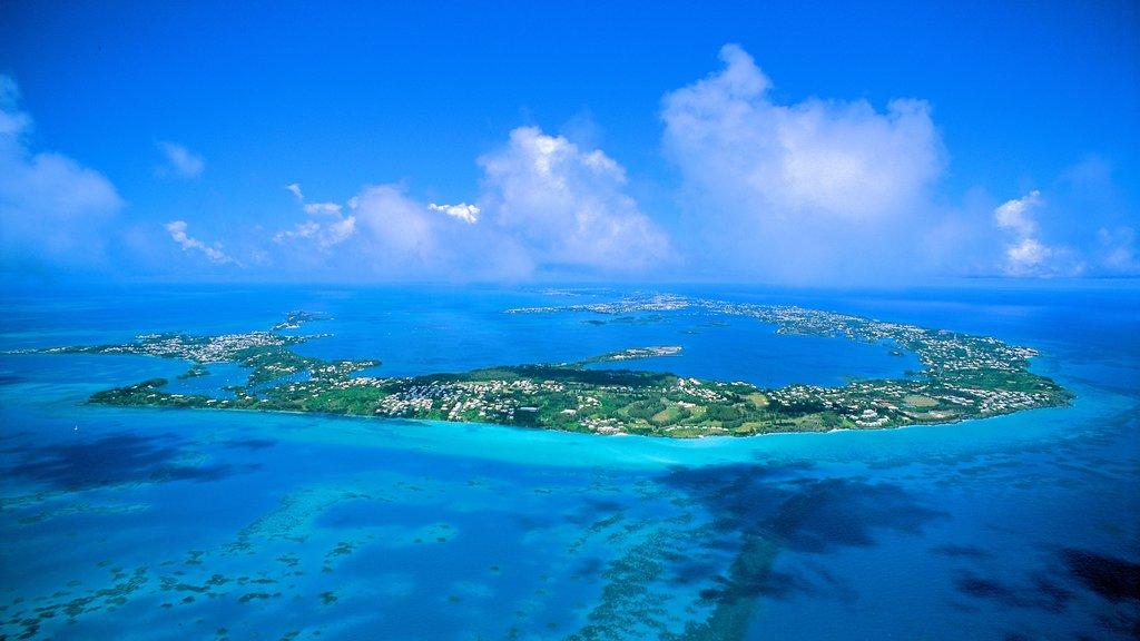 Bermudas que incluye vistas generales de la costa y vistas de una isla