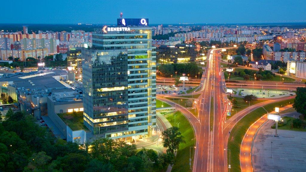 Bratislava featuring a city and night scenes
