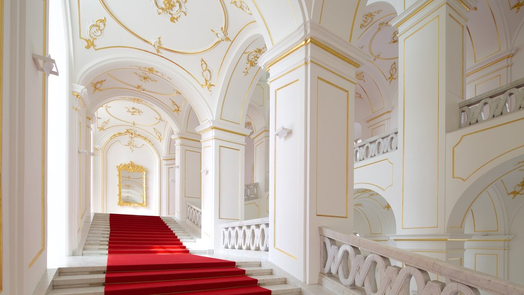 Bratislava Castle featuring a castle, heritage elements and interior views
