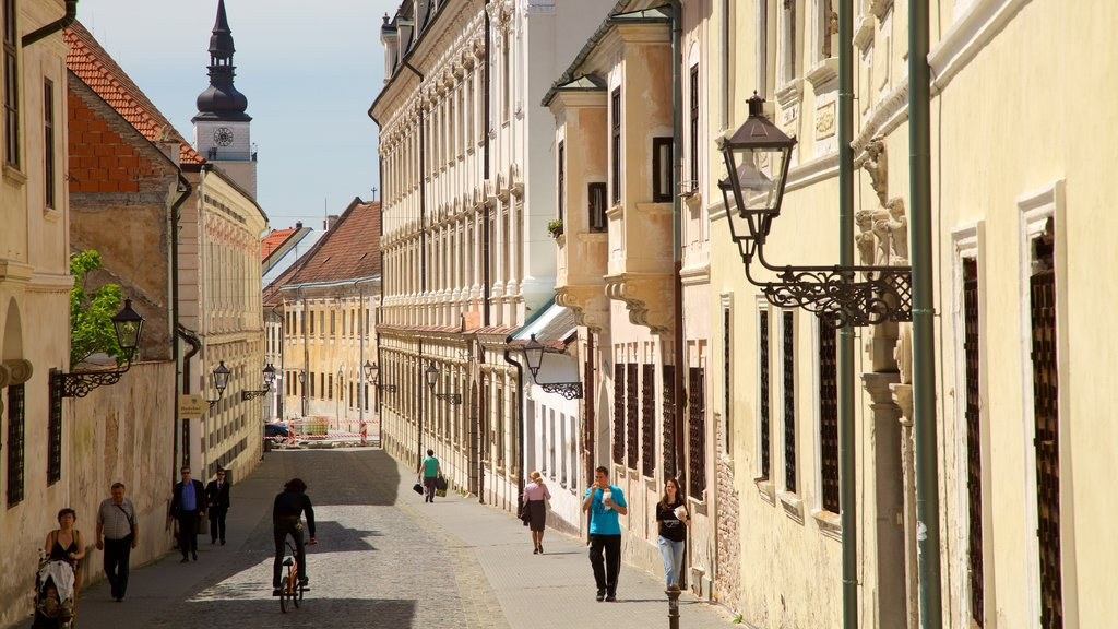 Trnava which includes street scenes as well as a small group of people