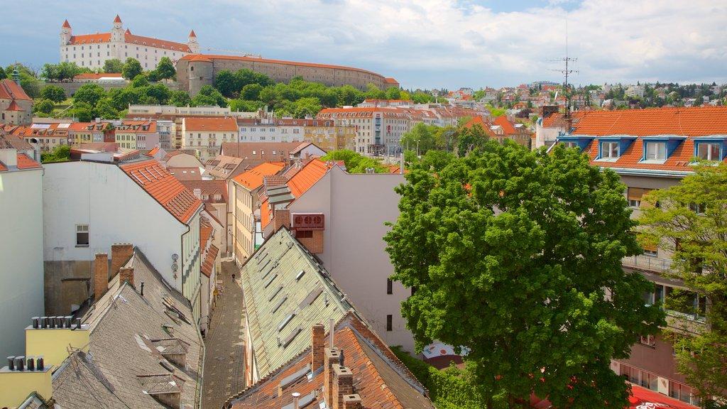 Bratislava Castle showing a city