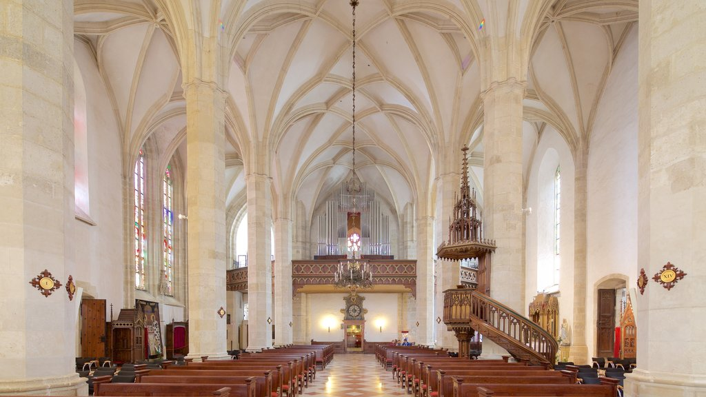 St. Martin\'s Cathedral showing heritage architecture, religious aspects and interior views