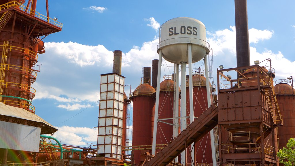 Sloss Furnaces showing industrial elements