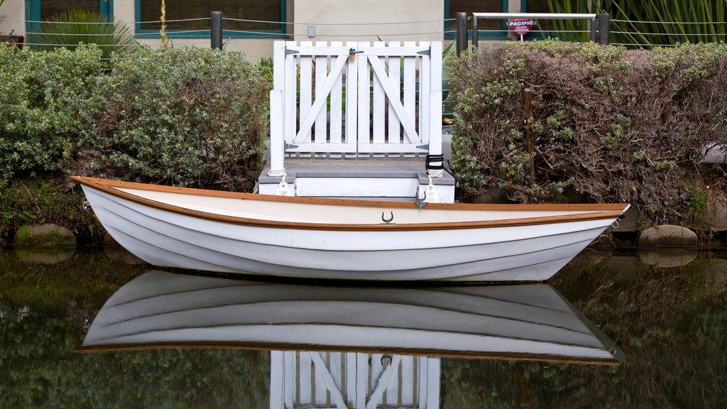 Venice Beach showing kayaking or canoeing