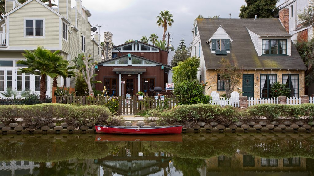Venice Beach showing a river or creek, heritage architecture and a house