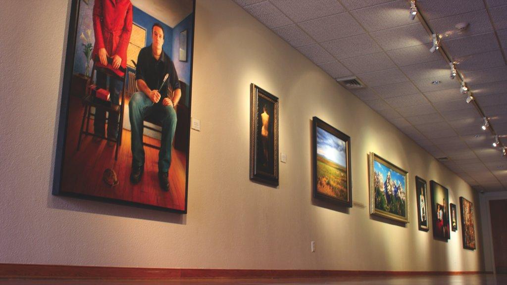 Casper featuring art and interior views
