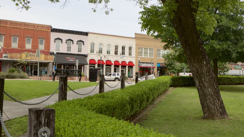 San Marcos showing a garden and heritage architecture