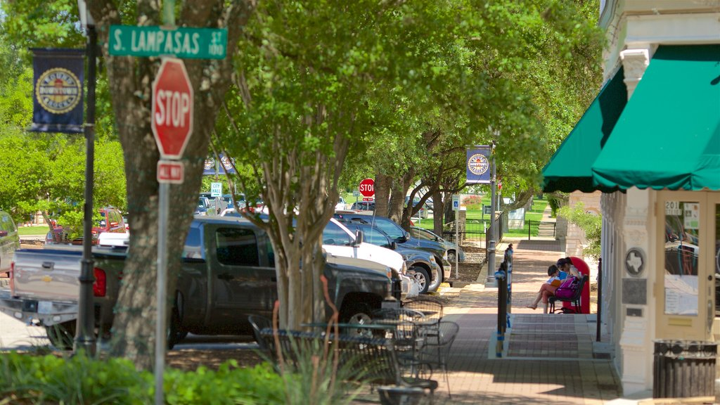 Round Rock showing central business district