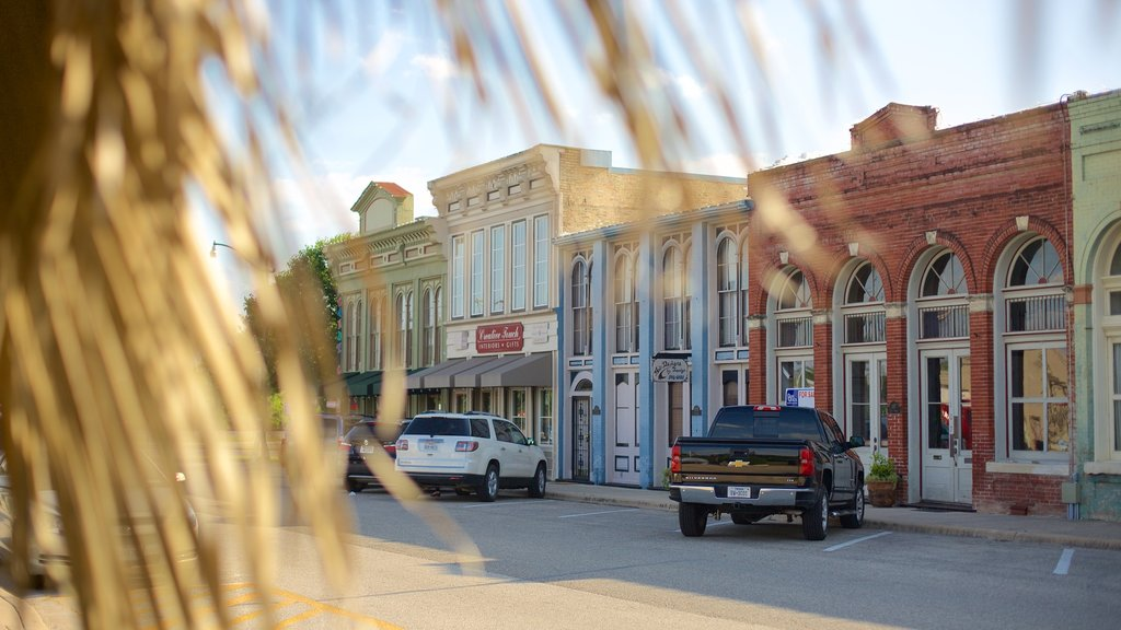 Hutto showing a small town or village and heritage architecture