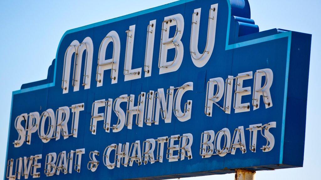 Malibu showing signage