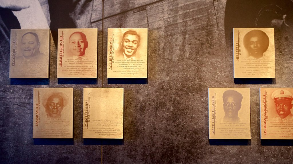 Civil Rights Memorial showing interior views