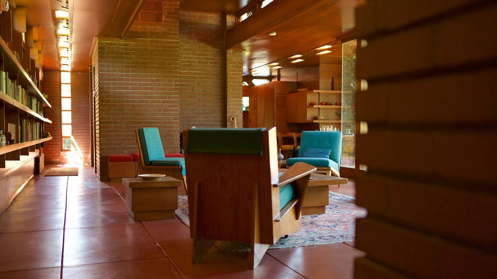 Frank Lloyd Wright Rosenbaum House featuring a house and interior views