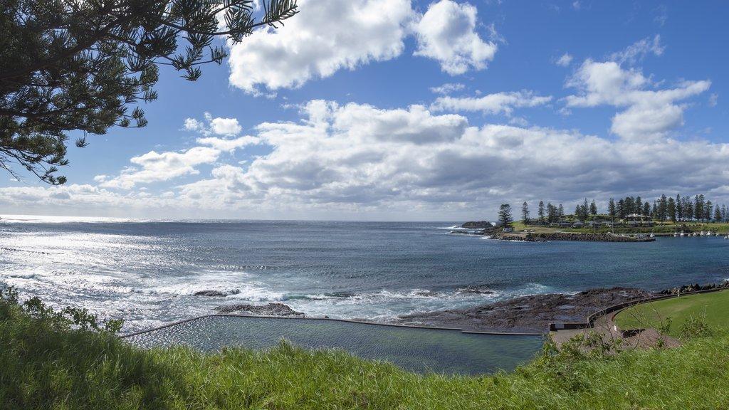Kiama que incluye vistas generales de la costa