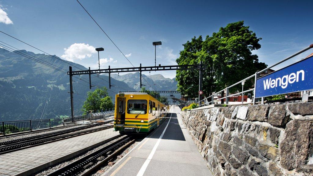 Wengen featuring railway items
