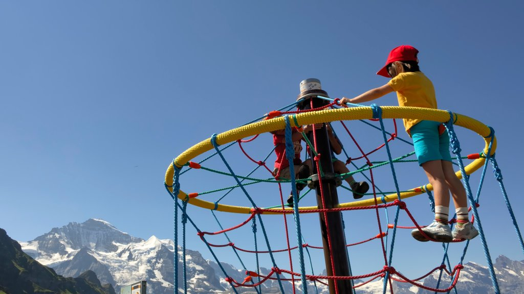 Lauterbrunnen which includes a playground as well as children