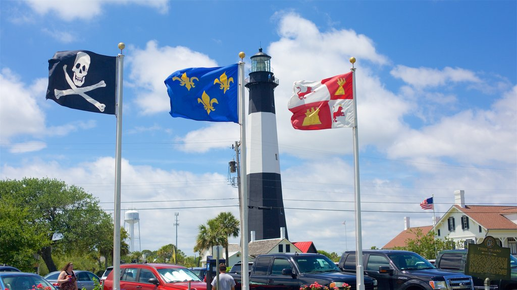 Tybee Island which includes a lighthouse