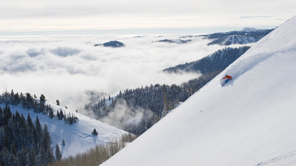 Canyons Resort showing snow skiing, snow and tranquil scenes