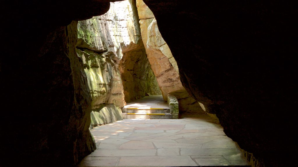 Lookout Mountain que incluye cuevas