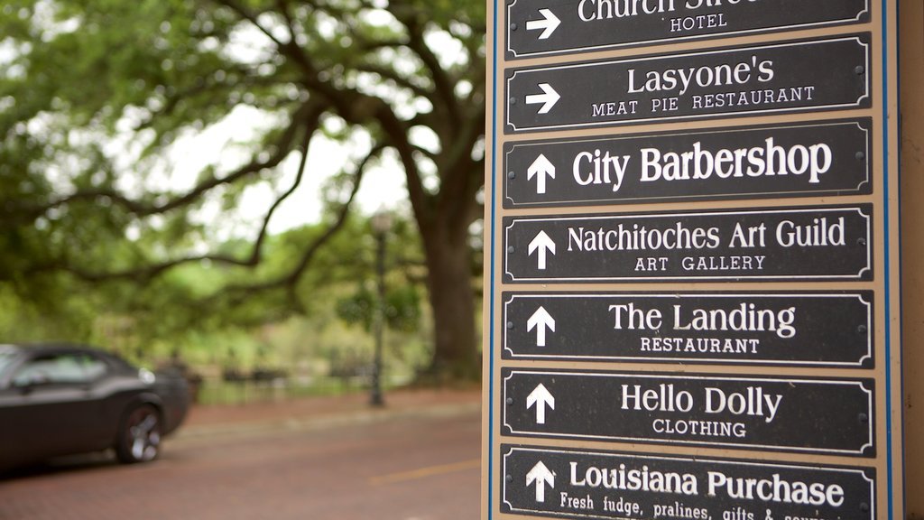 Natchitoches which includes signage