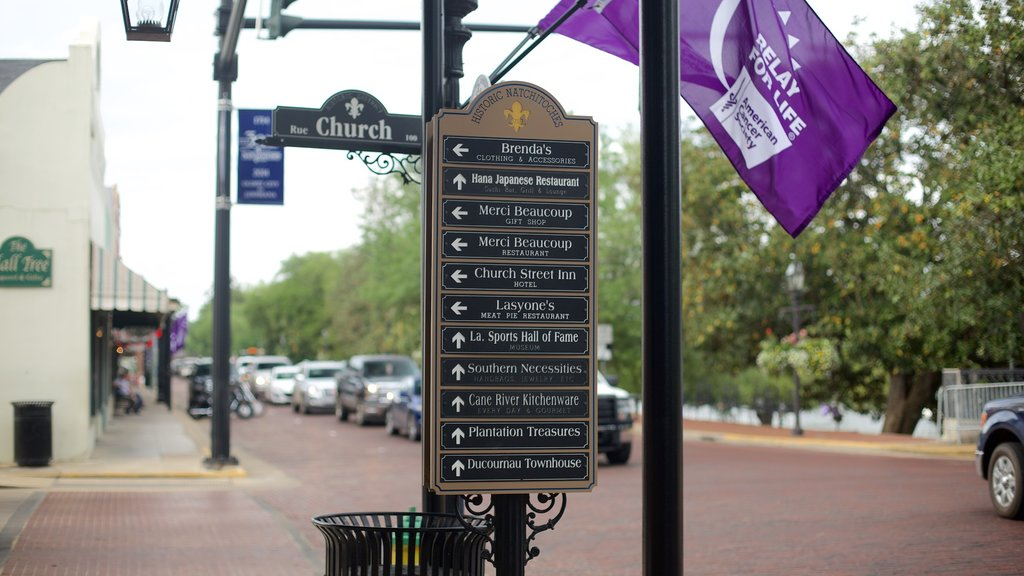 Natchitoches featuring signage