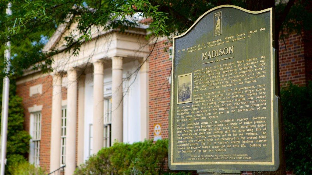 Madison mostrando patrimonio de arquitectura y señalización