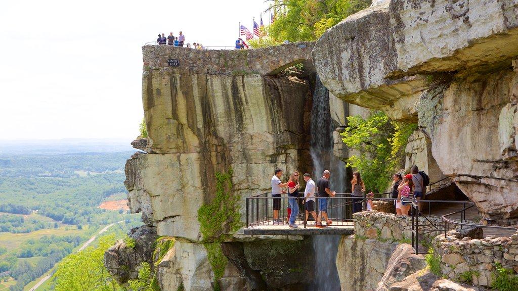 Lookout Mountain mostrando escenas tranquilas y vistas y también un pequeño grupo de personas