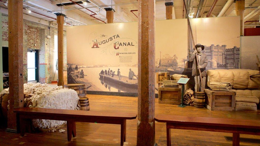The Augusta Canal Interpretive Center at Enterprise Mill ofreciendo vistas interiores