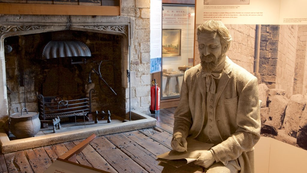 Westgate Museum featuring interior views and a statue or sculpture