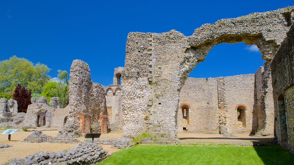Wolvesey Castle which includes heritage architecture and building ruins