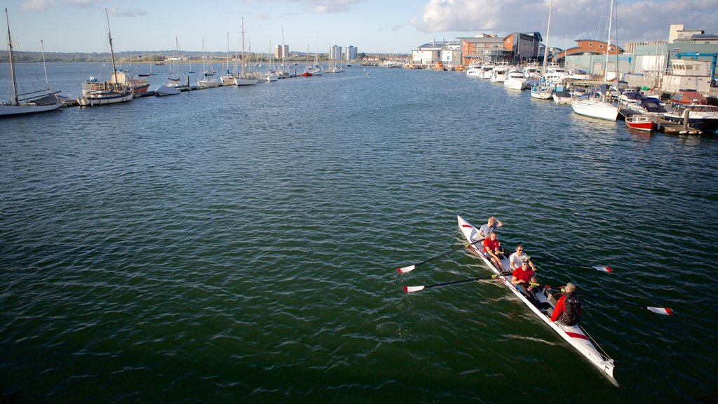 Poole Harbour showing kayaking or canoeing and a river or creek